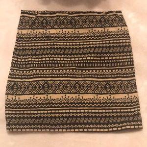 Forever 21 tribal stretch mini skirt XS